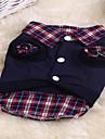 Chat Chien Sweatshirt Vetements pour Chien Mignon Sportif Tartan Arc-en-ciel Costume Pour les animaux domestiques