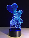 The Cartoon Cute Heart Bear Shape LED Lamp 3D Baby Night Light
