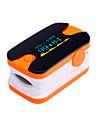 bleu oxymetre de pouls du bout des doigts affichage numerique oled moniteur de frequence cardiaque et orange