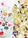 50pcs Negle Smykker Rhinsten Negle kunst Manicure Pedicure Daglig glitter / Metallic / Mode / Negle smykker