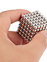 Magnet Toys 216Pcs 5mm Magnet Toys / Neodymium Magnet Executive Toys Puzzle Cube DIY Toys Magnetic Balls Silver Education Toys For Gift