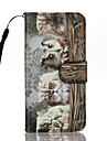 Coque Pour Apple iPhone 7 Plus iPhone 7 Porte Carte Portefeuille Avec Support Clapet Motif Coque Integrale Chat Dur faux cuir pour iPhone