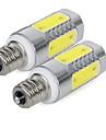 2pcs 3W 300lm E14 LED Corn Lights 5 LED Beads COB Cold White 85-265V