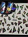 1pcs Glitter & Poudre Etiquetas de unhas 3D Fashion Diario Alta qualidade