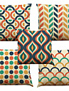 """Set of 5 Simple Large Lattice Linen  Cushion Cover Home Nordic Style(18""""*18"""")"""