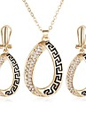 Women\'s Jewelry Set Rhinestone Unique Design Party Casual Alloy Geometric 1 Necklace 1 Pair of Earrings
