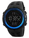 Муж. Спортивные часы Наручные часы Китайский Цифровой LCD Календарь Защита от влаги С двумя часовыми поясами тревога Хронометр Pезина