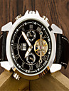 Men\'s Fashion Watch Quartz Leather Band Casual Black  Automatic mechanical watch