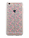 Case For Apple iPhone 7 Plus iPhone 7 Transparent Pattern Back Cover Flower Soft TPU for iPhone 7 Plus iPhone 7 iPhone 6s Plus iPhone 6s