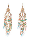 Women\'s Drop Earrings Crystal Obsidian Tassel Euramerican Costume Jewelry Tassels Vintage Crystal Resin Alloy Jewelry Jewelry For Wedding