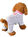 Dog Jumpsuit Pajamas Dog Clothes Breathable Cute Casual/Daily Fruit Pink Costume For Pets
