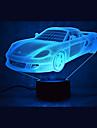 1 pieza Luz nocturna 3D Multiples Colores USB Con Sensor Regulable Impermeable Color variable