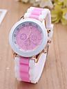 Женские Спортивные часы Нарядные часы Модные часы Наручные часы Крупный циферблат Кварцевый силиконовый Группа С подвесками Разноцветный
