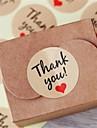 10sheet / 120pcs papier kraft vous remercient des etiquettes de cadeau faveurs de mariage accessoires de fete de Noel mariage bricolage