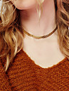 Women\'s Leaf Choker Necklace  -  Unique Design Fashion Single Strand Gold Silver Necklace For Christmas Gifts Party Special Occasion