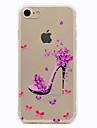 용 투명 패턴 케이스 뒷면 커버 케이스 섹시 레이디 소프트 TPU 용 Apple 아이폰 7 플러스 아이폰 (7)