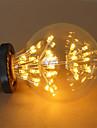 1pc 3W 200lm E26 / E27 Ampoules a Filament LED G95 47 Perles LED COB Etoile Decorative Blanc Chaud 220-240V