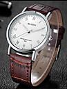 Мужской Модные часы Кварцевый Кожа Группа Повседневная Черный Коричневый