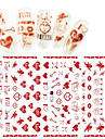 1pcs Nail Sticker Nail Stamping Template Stickers Nail Decals 3D