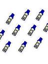 10Pcs T10 9*5050 SMD LED Car Light Bulb Blue Light DC12V