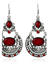 Boucles d\'oreilles Cristal Simple Style Mode Bijoux Pour Mariage Soiree Anniversaire 1 paire