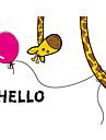 Животные Слова и фразы Мультипликация Наклейки Простые наклейки Декоративные наклейки на стены, Винил Украшение дома Наклейка на стену