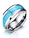 Men\'s Ring Basic Fashion Personalized Euramerican Simple Style Costume Jewelry Tungsten Steel Circle Round Geometric Jewelry For Party