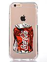 Para iPhone X iPhone 8 Case Tampa Transparente Estampada Capa Traseira Capinha Desenho Animado Macia PUT para Apple iPhone X iPhone 8
