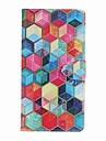 Pour iPhone 8 iPhone 8 Plus Etuis coque Porte Carte Portefeuille Avec Support Clapet Motif Coque Integrale Coque Formes Geometriques Dur