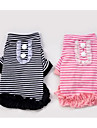 Dog Shirt / T-Shirt Dog Clothes Cute Casual/Daily Fashion Plaid/Check Black Pink Costume For Pets