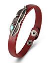 Homme Femme Cuir Bracelets en cuir - Retro Ailes / Plume Noir Jaune Marron Bracelet Pour Cadeau