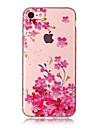 Para o iphone da maca 7 7 mais 6s 6 mais o se 5s 5 5c caso cobrem o teste padrao hd da flor da ameixa pintado material do tpu caixa do