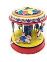 ゼンマイ式玩具 キュート 馬 回転木馬 メリーゴーラウンド メタリック 鉄 1 pcs 小品 子供用 男の子 女の子 おもちゃ ギフト