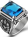 Men\'s Ring Statement Ring Acrylic Personalized Euramerican Hip-Hop Fashion Rock Punk Acrylic Titanium Steel Square Costume Jewelry