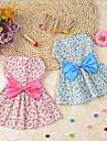 개 드레스 턱시도 강아지 의류 겨울 여름 모든계절/가을 프린세스 귀여운 스포츠 클래식 웨딩 생일 휴일 패션 캐쥬얼/데일리 양면 가능 할로윈 크리스마스 새해 블루 핑크