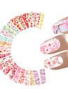 24 Стикер искусства ногтя Наклейка для переноса воды макияж Косметические Ногтевой дизайн