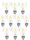 4W E27 LED Filament Bulbs A60(A19) 4 COB 300 lm Warm White White 3000-3500  6000-6500 K Dimmable V