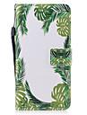 Кейс для Назначение Apple iPhone 7 Plus iPhone 7 Бумажник для карт Кошелек со стендом Флип Магнитный С узором Чехол дерево Твердый Кожа PU