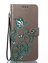 Capinha Para Samsung Galaxy S8 Plus S8 Carteira Porta-Cartao Com Suporte Flip Com Relevo Estampada Corpo Inteiro Borboleta Rigida Couro