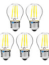 BRELONG® 5pcs 4W 300lm E27 Ampoules a Filament LED G45 4 Perles LED COB Intensite Reglable Blanc Chaud Blanc 200-240V