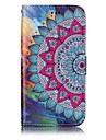For Samsung Galaxy A3(2017) A5(2017) Case Cover Card Holder Wallet Embossed Pattern Full Body Case Mandala Hard PU Leather