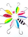 HiUmi Lot 10 pcs 4cm 6g Colorful Trout Lure Fishing Spoon Bait Single Hook Metal Fishing Lure Fishing Tackle Swimbait