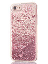 Pour iPhone 8 iPhone 8 Plus Etuis coque Strass Liquide Transparente Coque Arriere Coque Brillant Dur Polycarbonate pour Apple iPhone 8