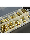 50Pcs/Box Copper Weights Fishing Sinkers 1.8g/3.5g/5g/7g/10g in Plastic Fishing Accessories Tackle Box 127x60x23mm