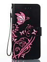 Para Sony xperia e5 capa capa borboleta flores padrao pu material cartao cartao stent carteira telefone