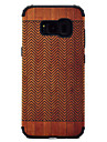 For Samsung Galaxy S8 Plus S8 Shockproof Wood Grain Pattern Magnetic Absorption Case Back Cover Case TPU And PC Phone Case S7 Edge S7