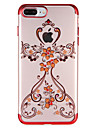Coque Pour Apple iPhone 7 Plus iPhone 7 Strass Transparente Motif Coque Bande dessinee Flexible TPU pour iPhone 7 Plus iPhone 7 iPhone 6s
