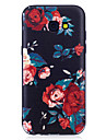 For Samsung Galaxy A3(2017)  A5(2017) Case Cover Flowers Pattern Painted Feel TPU Soft Case Phone Case A3(2016)  A5(2016)