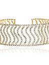 Pentru femei Coliere Choker - Ștras Modă, Euramerican Auriu, Argintiu Coliere Bijuterii Pentru Nuntă, Petrecere