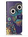 Etui Til Samsung Galaxy S8 Plus S8 Pung Kortholder Med stativ Flip Præget Mønster Heldækkende Ugle Hårdt Kunstlæder for S8 S8 Plus S7